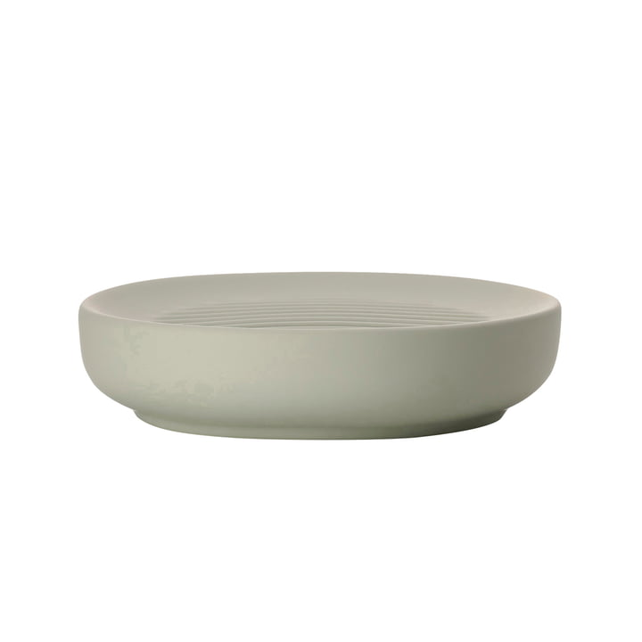 Ume soap dish in eucalyptus green by Zone Denmark
