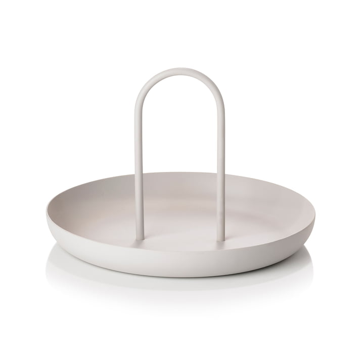 Singles Tray, Ø 20 x 13 cm in warm grey from Zone Denmark