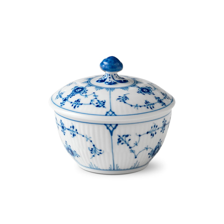 Musselmalet sugar bowl with lid 15 cl of Royal Copenhagen