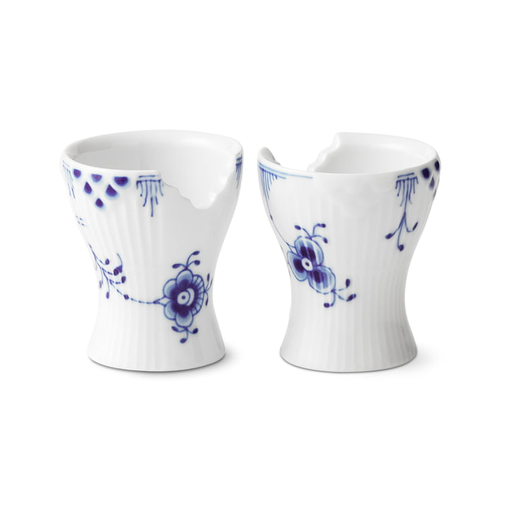 Elements Blue Egg Cup (Set of 2) by Royal Copenhagen