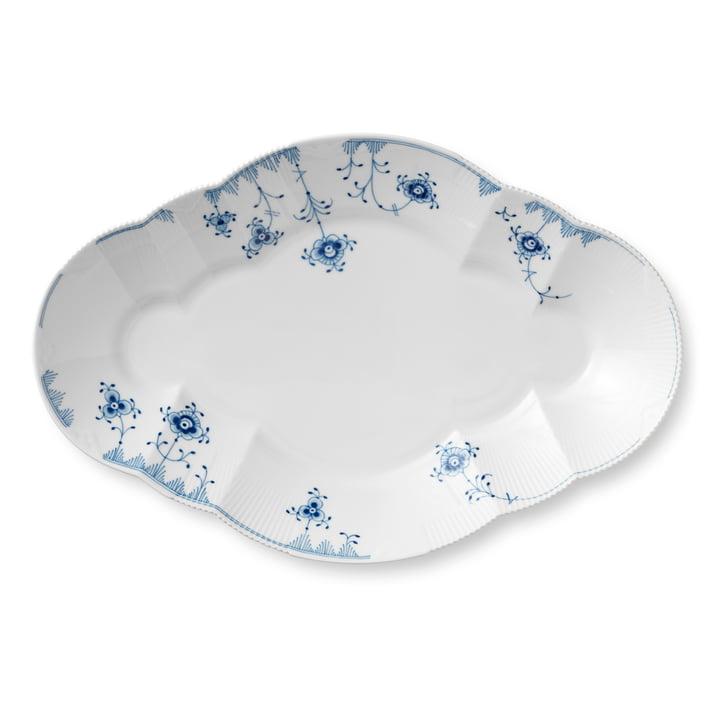 Elements Blue serving plate 38,5 cm in white / blue by Royal Copenhagen