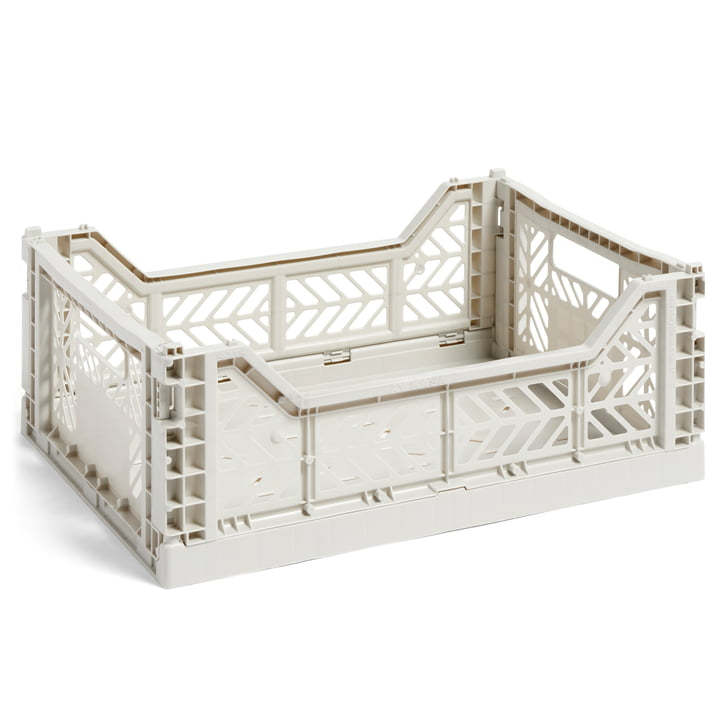 Colour Crate basket M, 40 x 30 cm from Hay in light grey