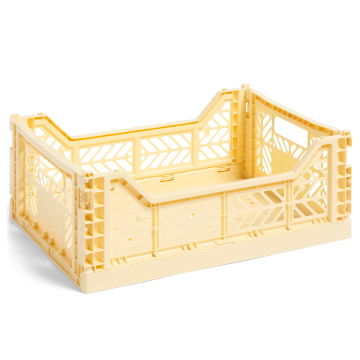 Colour Crate basket M, 40 x 30 cm from Hay in light yellow