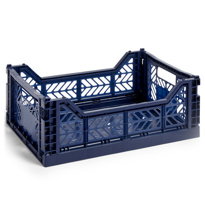 Colour Crate basket M, 40 x 30 cm from Hay in navy