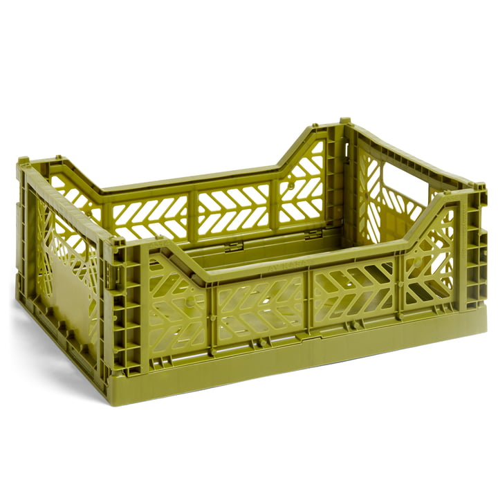 Colour Crate basket M, 40 x 30 cm from Hay in olive