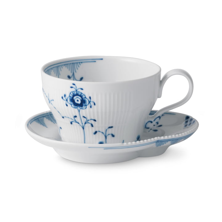 Elements Blue cup with saucer 26 cl of Royal Copenhagen