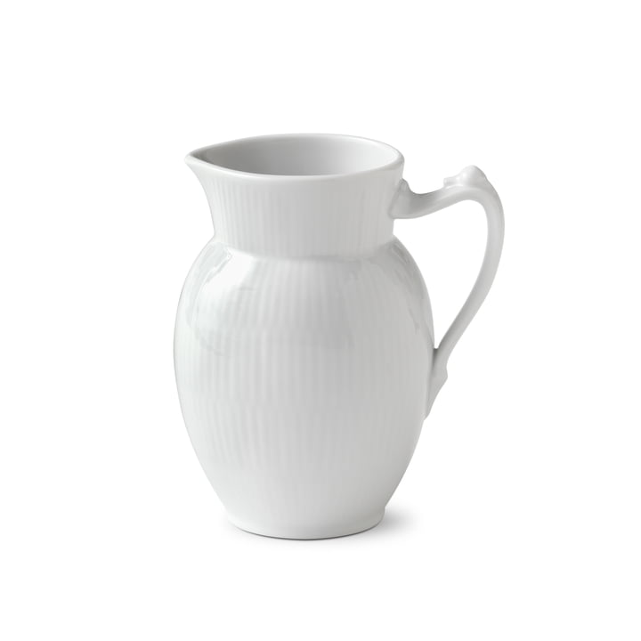 White Ribbed Pot 38 cl from Royal Copenhagen
