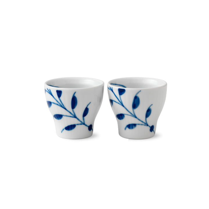 Mega Blue Ribbed Eggcup (Set of 2) from Royal Copenhagen