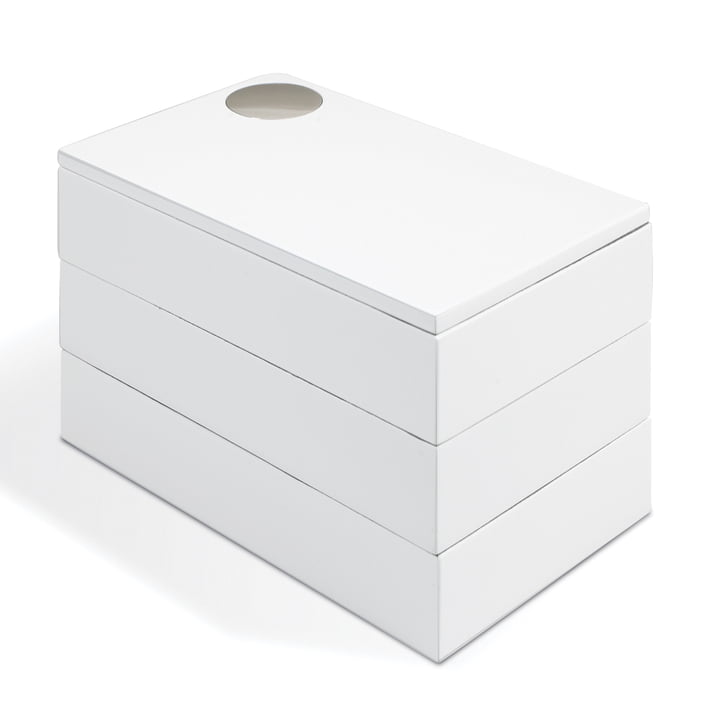 Spindle jewel case in white by Umbra