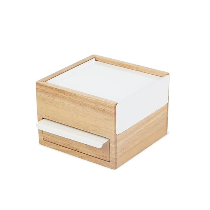Stowit Mini jewellery box in beech / white from Umbra