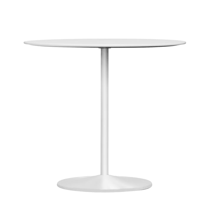 Panton dining table, Ø 90 x H 72 cm from Montana in laminate snow / snow