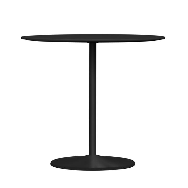 Panton dining table, Ø 90 x H 72 cm from Montana in linoleum black / black