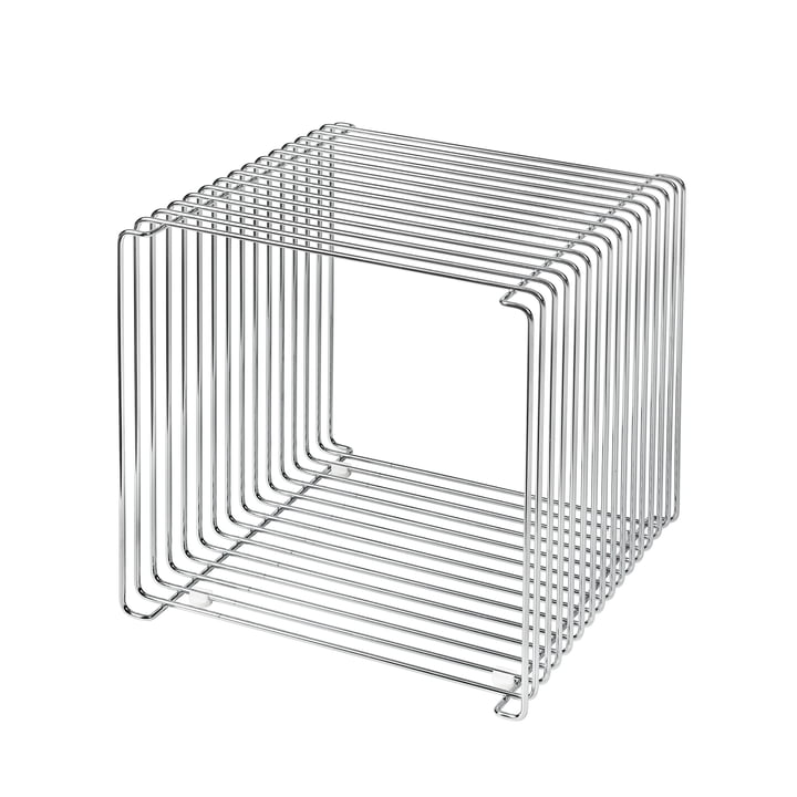 Panton Wire shelf / side table 34.8 cm by Montana in chrome