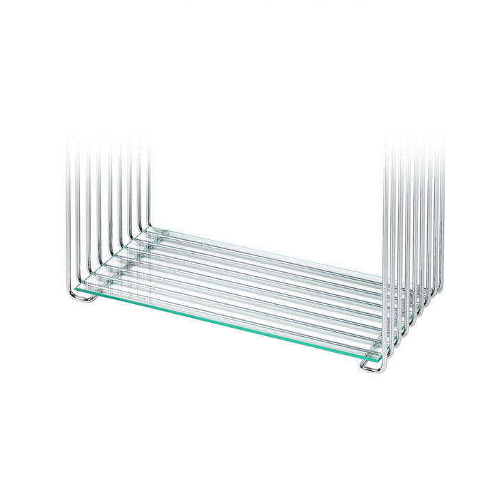 Shelf for Panton Wire 18,8 cm from Montana in clear glass