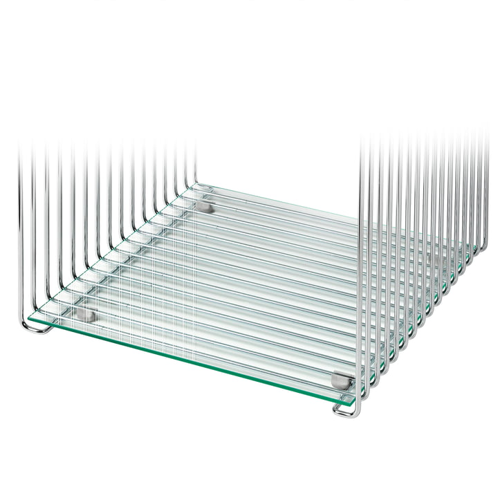 Shelf for Panton Wire 34,8 cm from Montana in clear glass