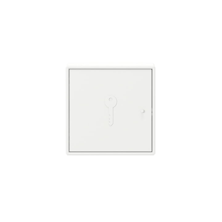 Unlock key cabinet with wall suspension by Montana in new white