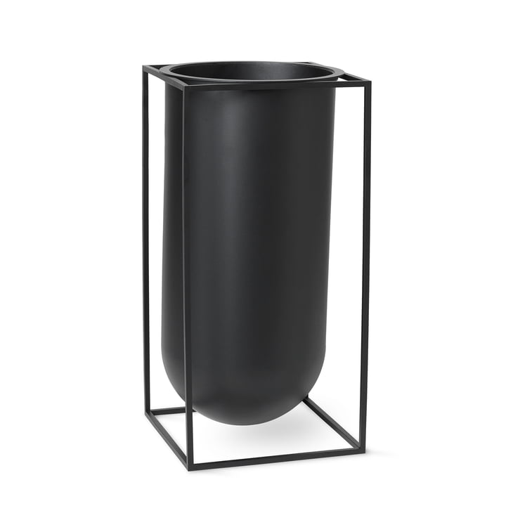 Kubus Vase Nolia by Lassen in black
