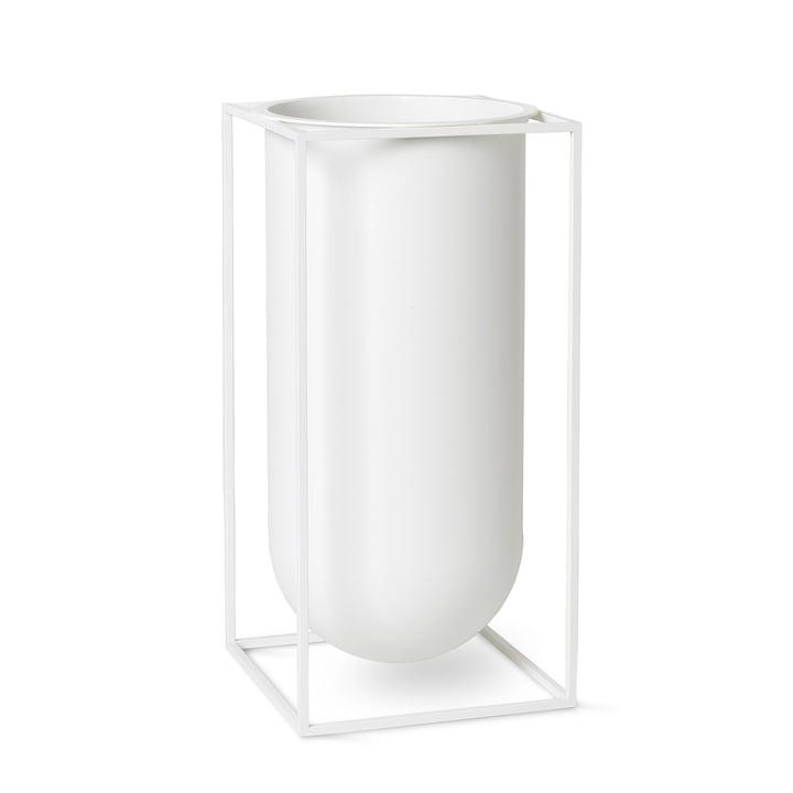 Kubus Vase Nolia by Lassen in white