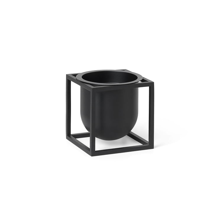 Kubus Flowerpot 10 by Lassen in black