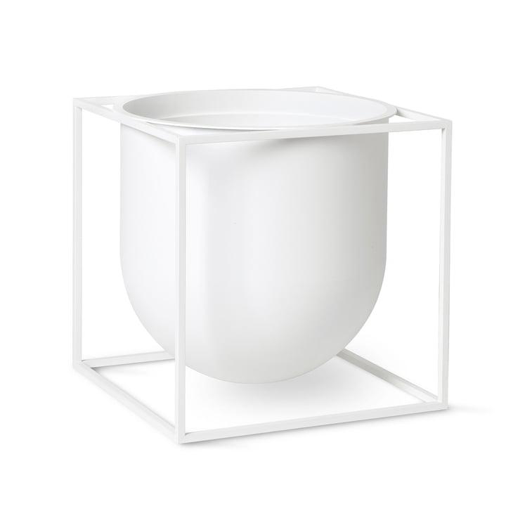 Kubus Flowerpot 23 by Lassen in white