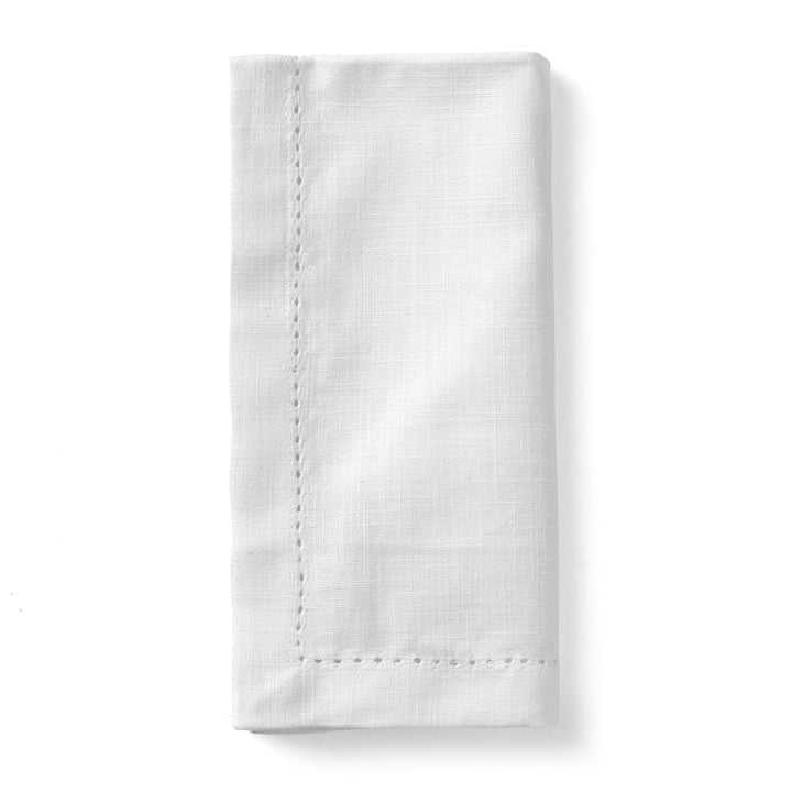 Celebrate fabric napkins (set of 4) 45 x 45 cm from Juna in white