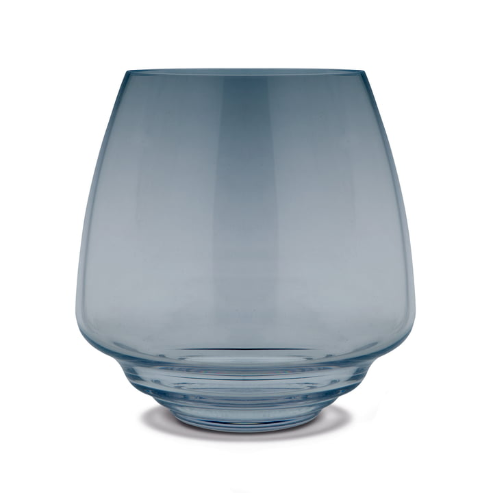 Flow block candle holder Ø 18,5 cm from Holmegaard in blue