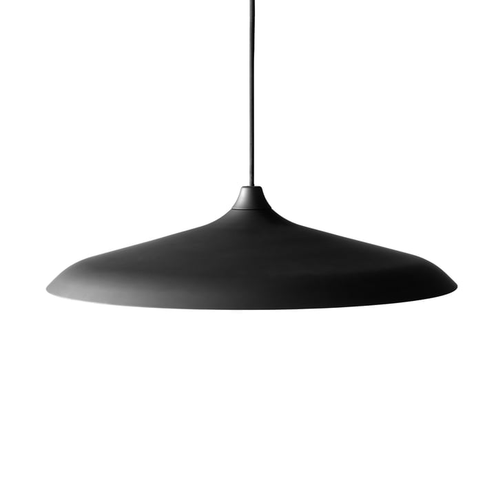 Circular pendant luminaire in black aluminium by Menu