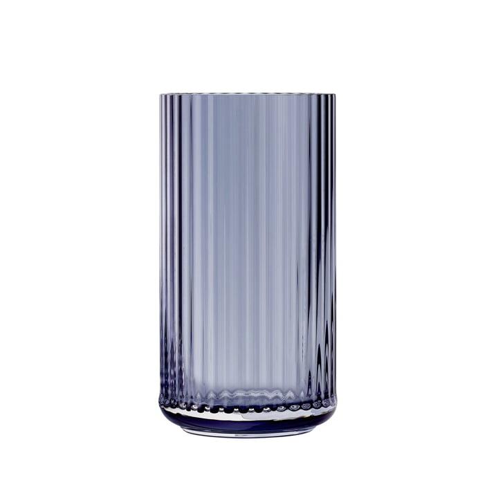 Glass vase H 20 cm from Lyngby Porcelæn in blue