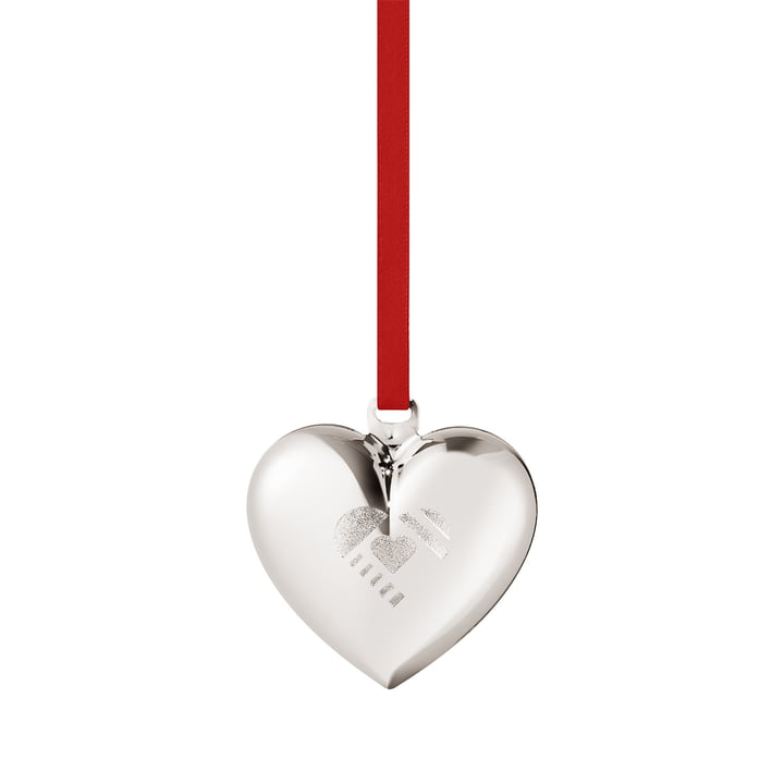 Christmas Heart 2019, palladium from Georg Jensen