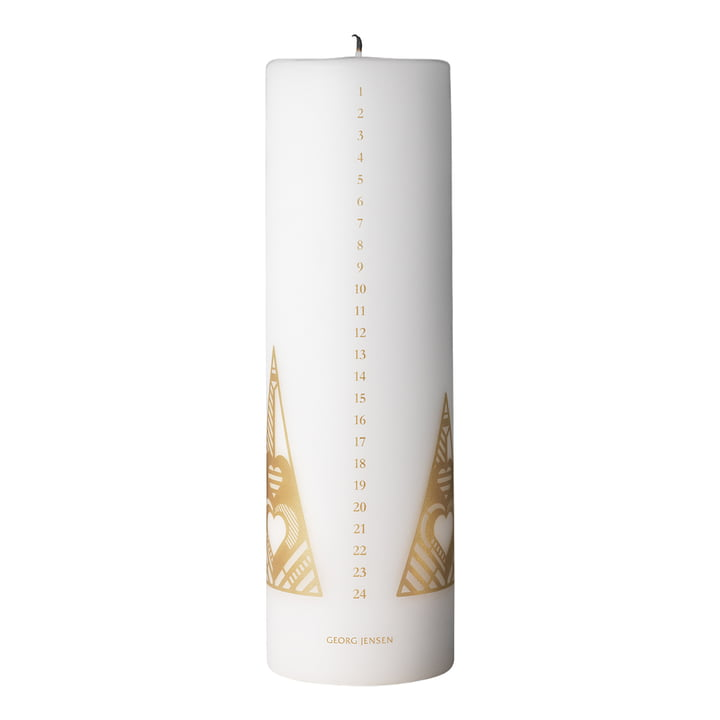 Christmas Collectibles Calendar Candle 2019, gold by Georg Jensen
