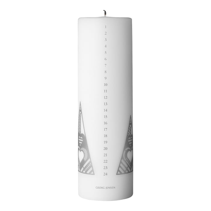 Christmas Collectibles Calendar Candle 2019, silver by Georg Jensen