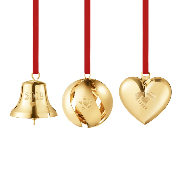 Gift set 2019 (3 pcs.), gold from Georg Jensen