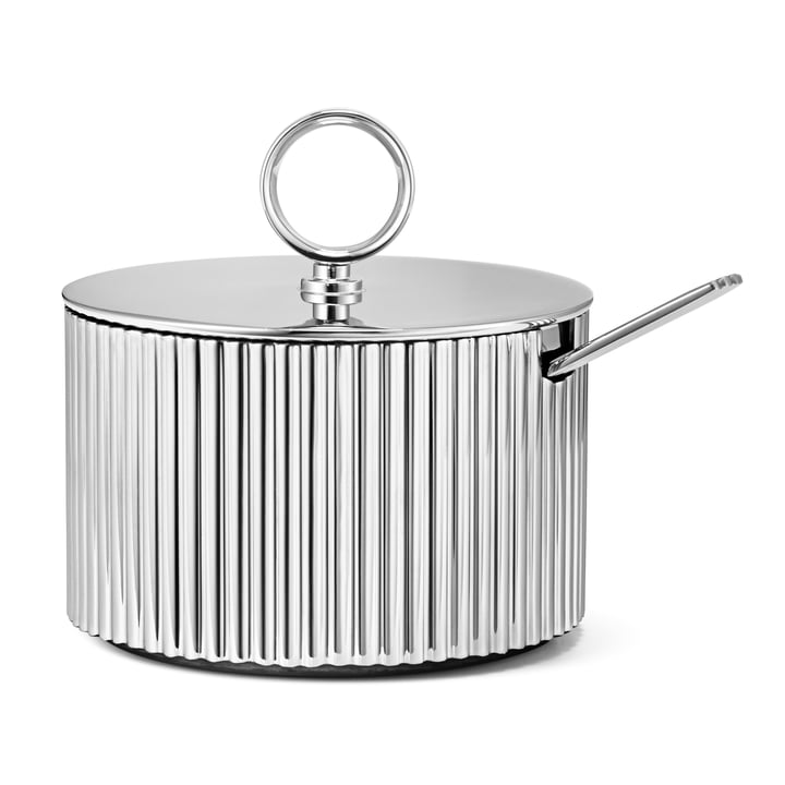 Bernadotte sugar bowl incl. spoon from Georg Jensen in polished stainless steel