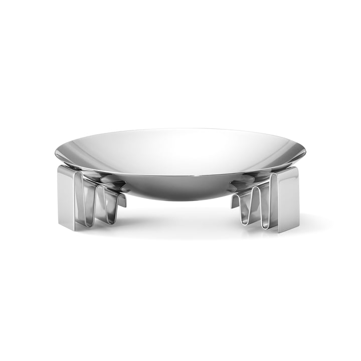 Frequency bowl medium in stainless steel polished by Georg Jensen