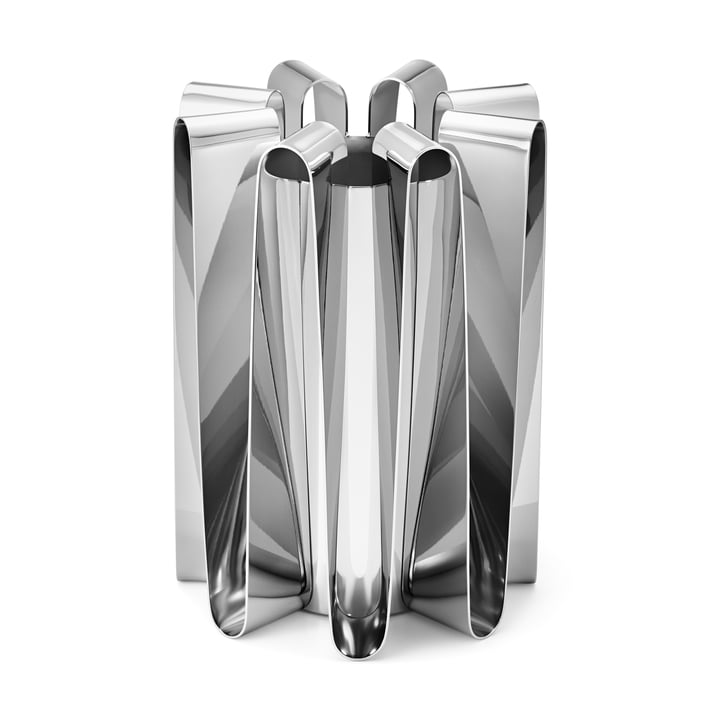 Frequency Vase in stainless steel polished by Georg Jensen