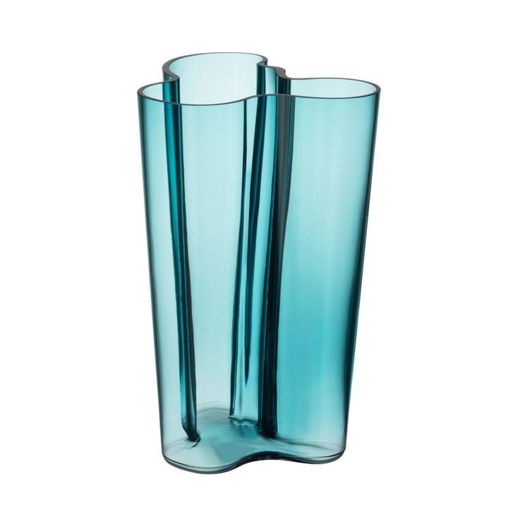 Aalto vase Finlandia 251 mm from Iittala in sea blue