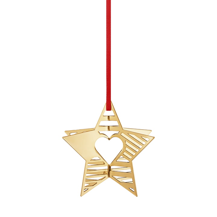 Holiday Ornament 2019 Star, gold from Georg Jensen