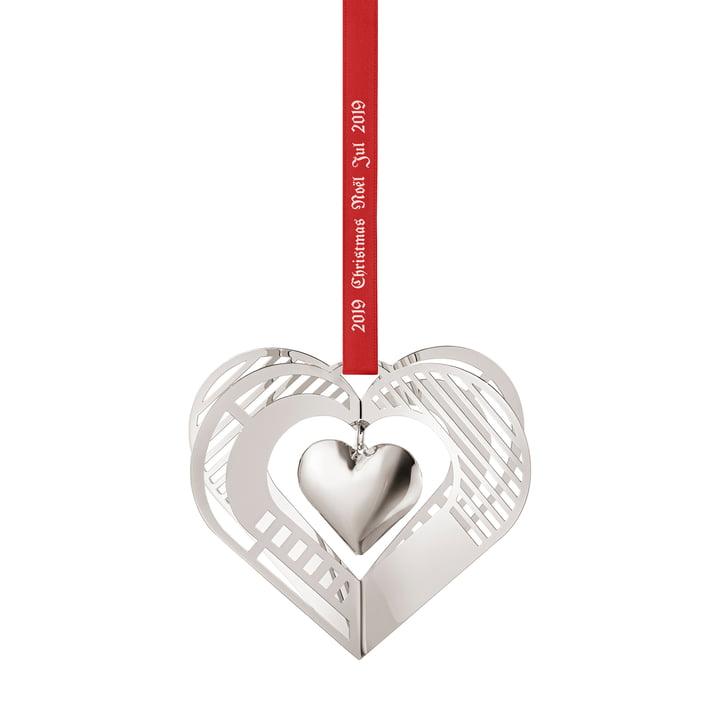 Christmasmobile 2019 Heart, palladium from Georg Jensen