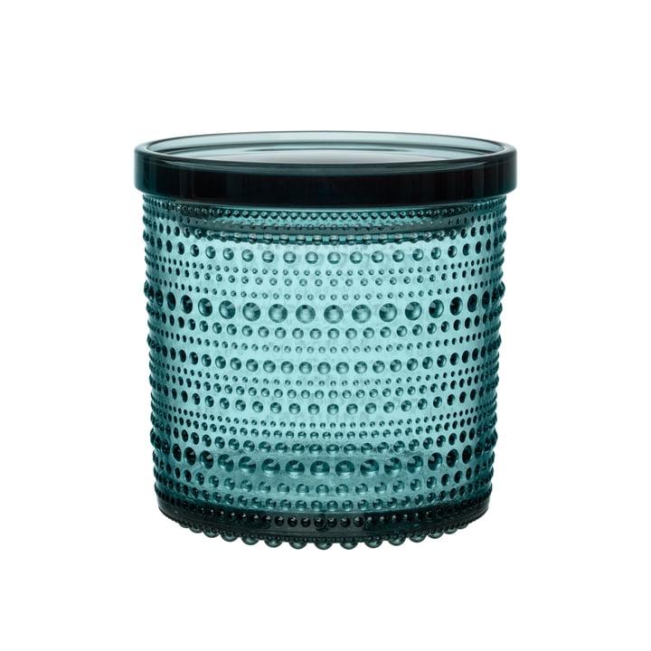 Kastehelmi Storage glass 116 x 114 mm from Iittala in sea blue
