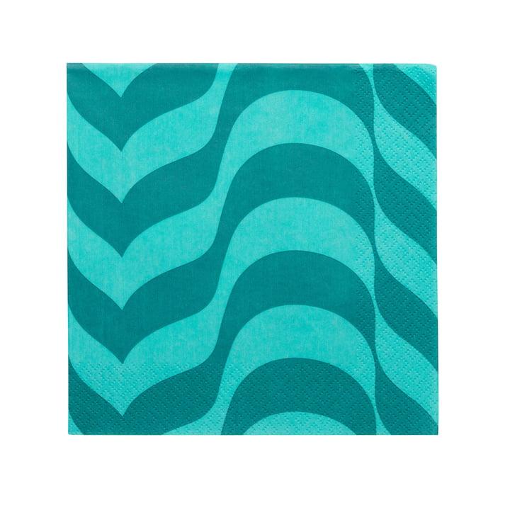 Aalto paper napkin 33 x 33 cm from Iittala in sea blue