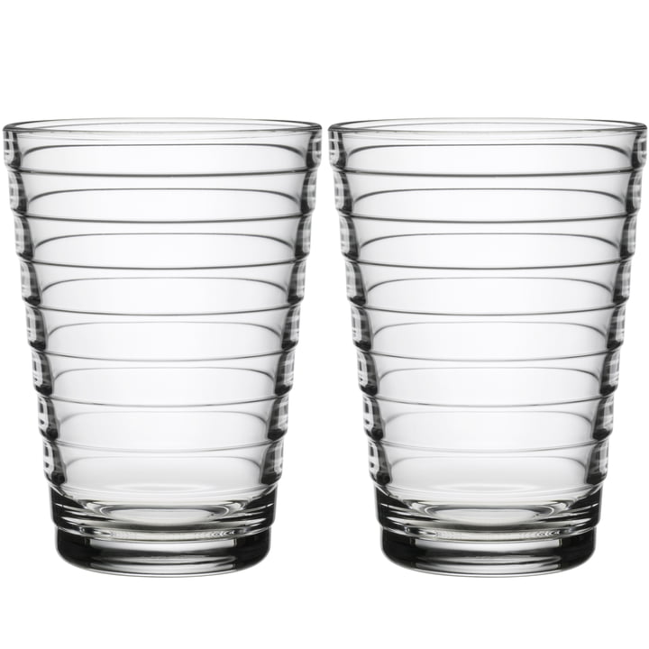 Aino Aalto long drink glass 33 cl from Iittala in clear (set of 2)