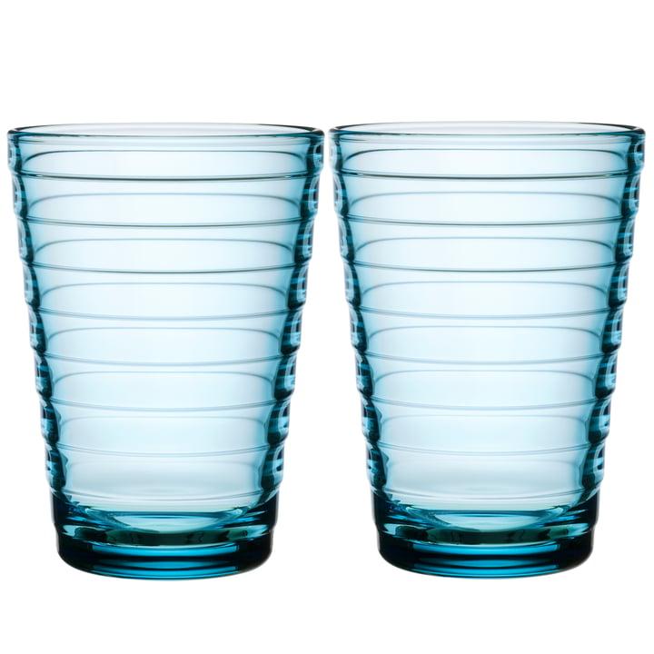 Aino Aalto long drink glass 33 cl from Iittala in hellbau (set of 2)