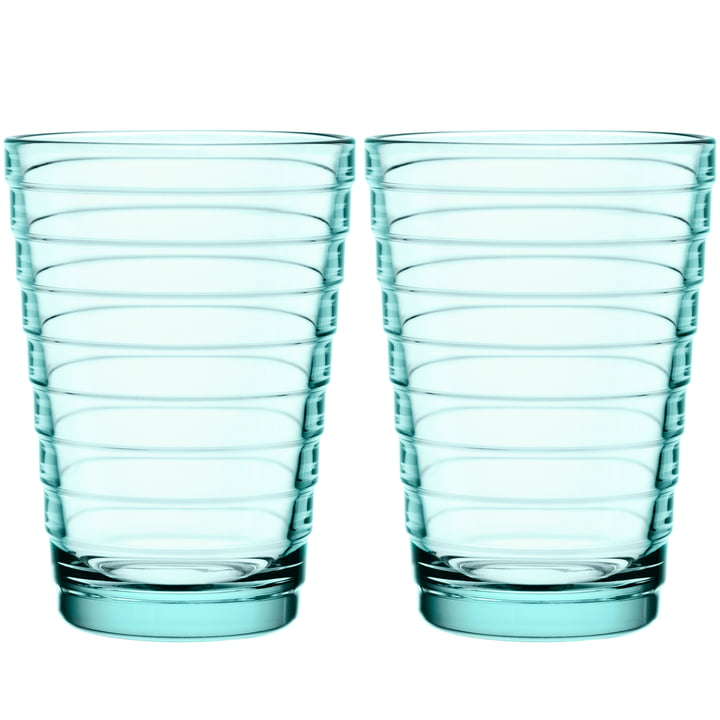 Aino Aalto long drink glass 33 cl from Iittala in water green (set of 2)