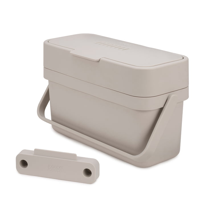 Compo 4 organic waste bin incl. holder by Joseph Joseph in grey
