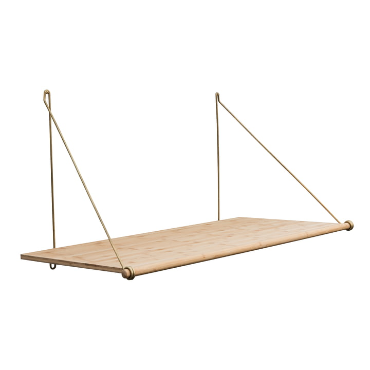 Loop Desk by We Do Wood made of bamboo / brass