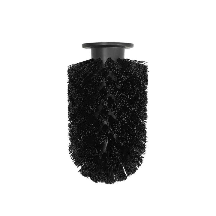 Replacement brush head for Ballo toilet brush from Normann Copenhagen in black