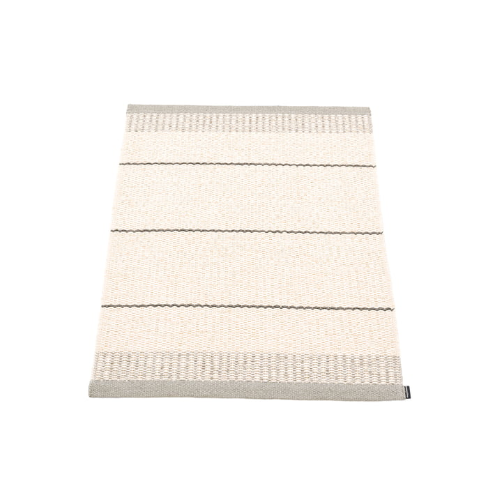 Belle carpet, 60 x 85 cm in warm grey by Pappelina