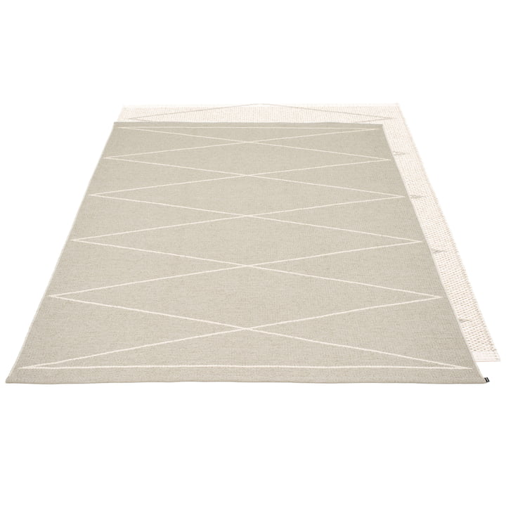 Max reversible carpet, 180 x 260 cm in linen / vanilla by Pappelina