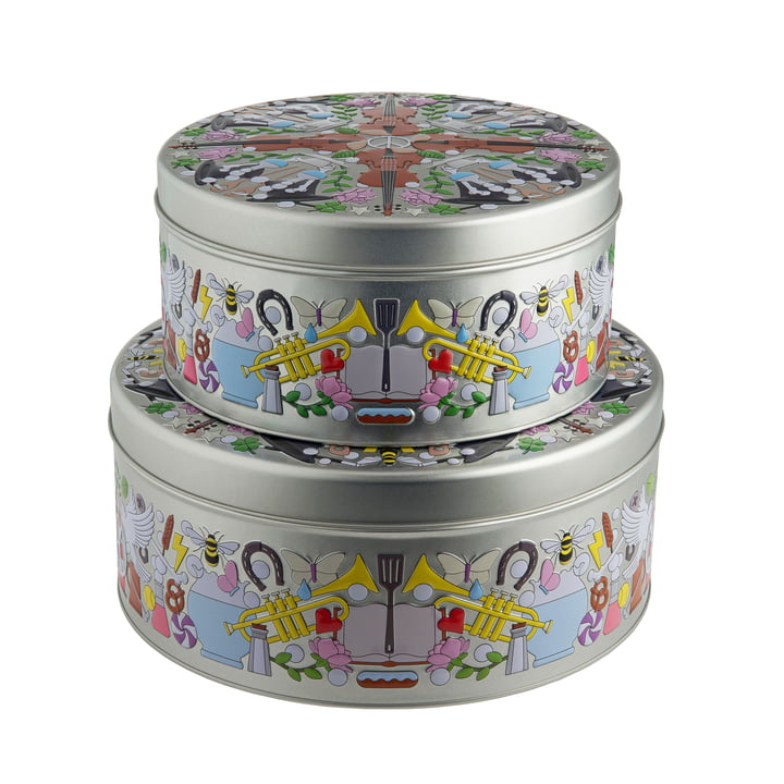 Garybaldi Tin all-purpose box (set of 2) by Alessi