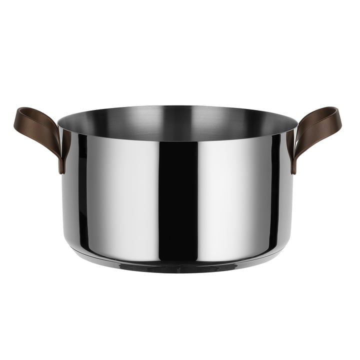 Edo casserole with two handles Ø 24 cm by Alessi made of stainless steel